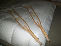 Wooden Crutches, adjustable height