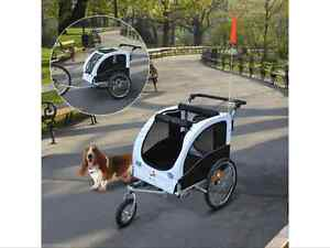 Aosom pet trailer dog cat carrier 2 in 1