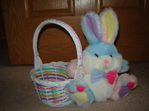 Easter Basket with Bunny, Easter Stuffies