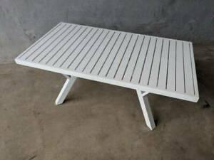 Morocco Coffee Table in White Aluminium Loganholme Logan Area Preview
