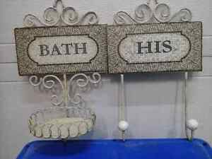 Bathroom soap and towel holder