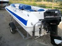 Wave rider speed boat mercury 50 outboard