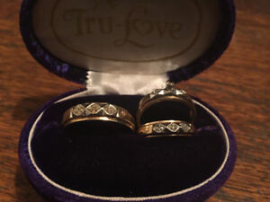 10k gold wedding set of 3