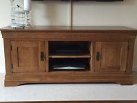 Rustic Solid Oak Widescreen TV Cabinet