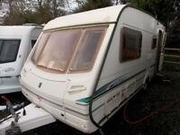 Abbey GTS Vogue 417 2002 4 Berth Touring Caravan Centre Dinette
