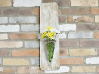 Rustic Wall Mounted Flower/Plant Holder