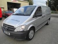 2011 Mercedes-Benz Vito 2.1CDI 110 euro 5 1 owner diesel pas sldx2 6 speed e/w
