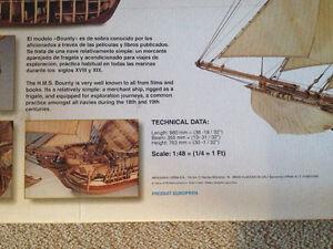 HMS Bounty wood model ship Cambridge Kitchener Area image 2