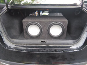 Really nice sounding 12 inch infinity subs and MTX amp