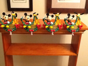 Disney Mickey/Pluto Christmas stocking holders