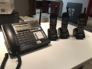 PANASONIC OFFICE PHONE SYSTEM with 8 EXTRA PHONES SETS