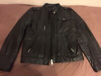 Calvin Klein sheep skin leather jacket