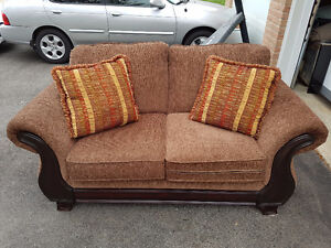 Brown Love Seat Couch / 2 Seater Couch / Sofa