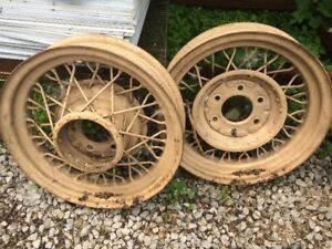 Old Car Wheels