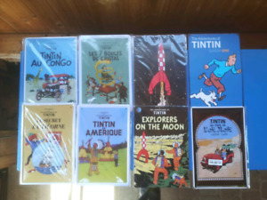 "Affiche métallique de Tintin 12""x8"""