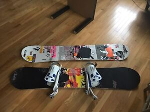 Burton and Rossignol Snowboard and boots
