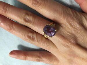 Large 14k Amethyst ring - $220