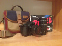 Canon T3i with kit lens and 300mm zoom lens