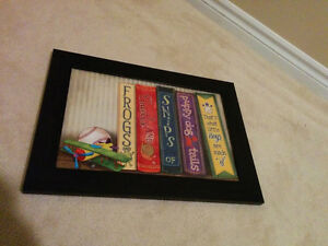 Framed Frogs and Snails art