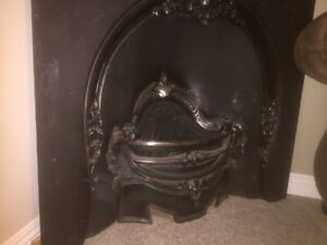 Solid Iron Vintage Fireplace