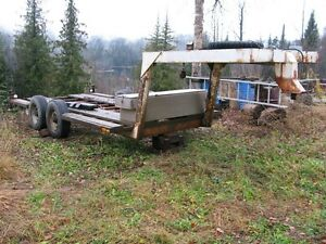 equipment trailer or stock car