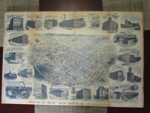 Reproduction of an Antique Pictorial Map  of Berlin