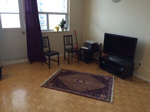 A large furnished studio on Yonge-Eglinton, early September