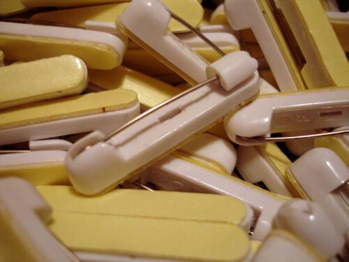 30 Name Badge Pin Ribbon Crafting Adhesive Bar Backings Safety Pin Name Tag Fast