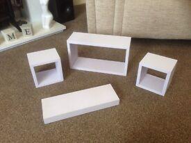 4 floating shelves