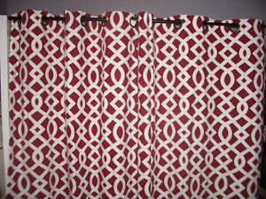 "Set --- 2 Curtains --- 40"" x 80"" each + simple metal rod"