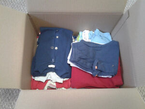 BOX of baby BOY clothes - 18 months