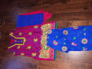 Pink and  blue  patiyala  for only $30