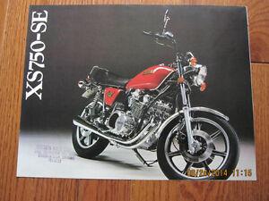 1978 Yamaha XS750SE Spec Pamphlet