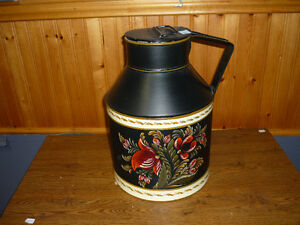 Old Milk Can (Hand Painted by Sandi Komst) P.E.I. Artist