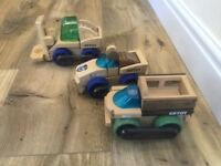 Wooden Trucks, Police Car, High Quality, Magnetic, Educational Toy