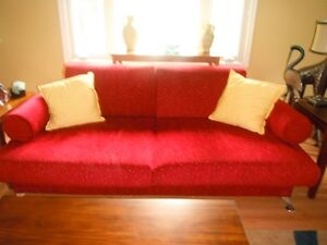 Oversized Couch and 3 chairs