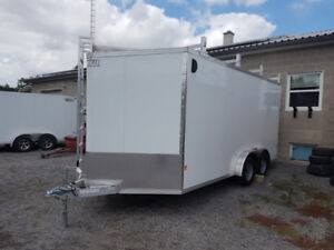 2017 EZ Hauler 7.5X16 Ft T/A Enclosed Trailer