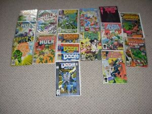 Comics Marvel Alpha flight, Defenders, Hulk etc.