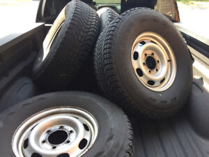"""16"""" winterforce snow tires and rims"""