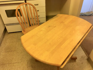 Folding Dining Table and 3 Chairs