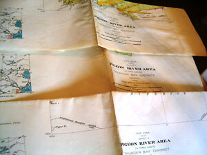 Pigeon River maps 1 2 3 Geological Survey 1936