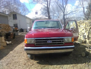 1990 red ford f150 pickup truck for sale