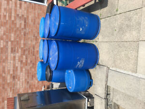 PLASTIC BARRELS AND CONTAINERS.