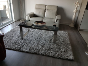 causeuse  table et tapis