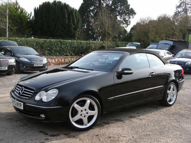 2005 mercedes benz clk 320 convertible cabriolet v6 3 2 petrol auto amg alloys in taunton. Black Bedroom Furniture Sets. Home Design Ideas