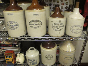 Old Crocks & Jugs With Advertising ,Names or Logos On The Side