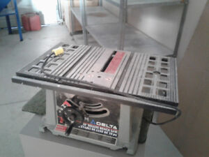 "Delta 10"" portable table saw"
