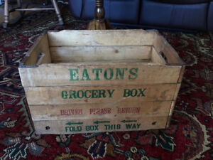 Antique Eatons Crate