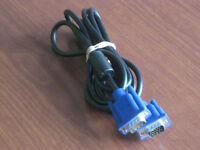 VGA CABLE MALE TO MALE 15 PIN