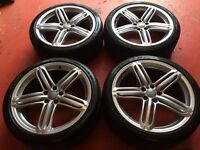 "20"" GENUINE A6 S LINE RS6 STYLE SEGMENT ALLOY WHEELS AND TYRES 5x112"